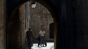 The souk in Aleppo