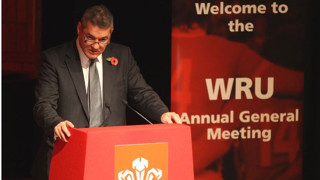 Welsh Rugby Union chairman David Pickering