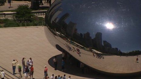 Cloud Gate, in Chicago