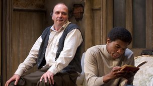 Stephen Chapman as Rigsby and Cornelius Macarthy as Philip