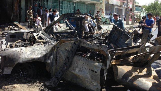 Scene of Kabul explosion