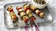 Paneer and vegetable skewers