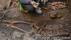 Skeleton found at Lincoln Castle