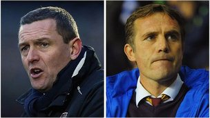 Aidy Boothroyd and Phil Parkinson