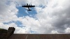 Lancaster bomber flypast