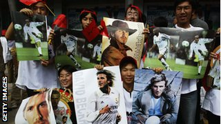 David Beckham fans in China