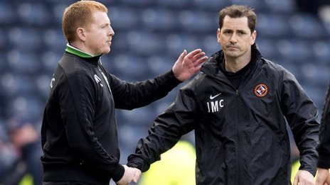 Neil Lennon and Jackie McNamara