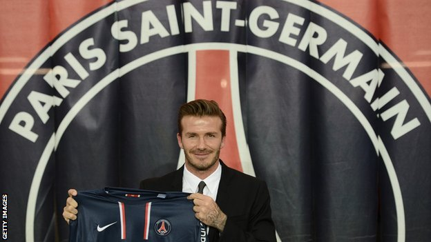 David Beckham joins Paris St-Germain