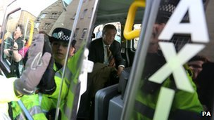 UKIP leader Nigel Farage in a taxi