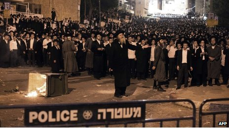 Ultra-Orthodox protest in Jerusalem (16/05/13)