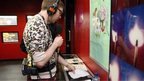 Phil Taggart broadcasting live from BBC Learning&#039;s Radio 1 Academy