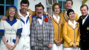 The cast of TV series Hi-de-Hi!