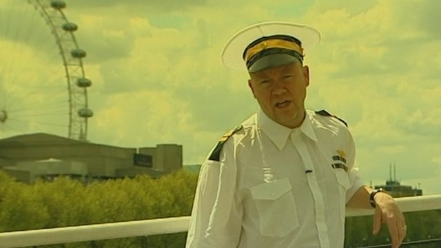 Toby Young in naval uniform