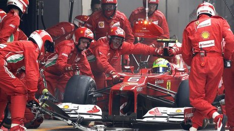 Ferrari pit stop