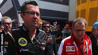 Eric Boullier and Stefano Domenicalli