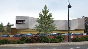 Artist impression of new Cineworld cinema in St Neots, Cambridgeshire