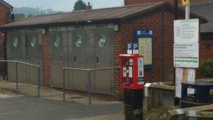 Public toilets in Bromyard