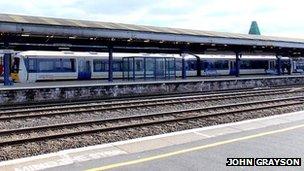 Chiltern Railways train at Oxford station