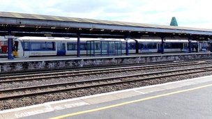 Chiltern Railways train at Oxford station