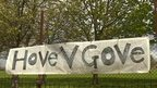 Hove v Gove sign