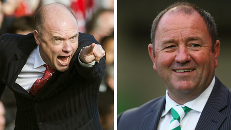 Brentford boss Uwe Rosler and Yeovil manager Gary Johnson