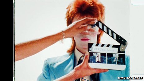 David Bowie, photograph by Mick Rock, 1972, 1973.