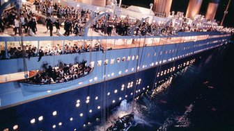 Scene from the film Titanic