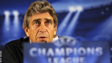 Malaga manager Manuel Pellegrini