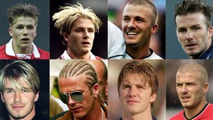Beckham&#039;s looks through the years