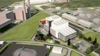 Artist&#039;s impression of waste incinerator