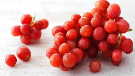 Red grapes: BBC Food