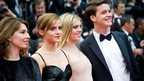 Emma Watson with co-stars of The Bling Ring at Cannes Film Festival