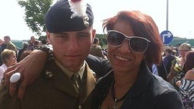 David Collins with mum Lisa Minott