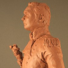 A scale model of a proposed statue of Sir Isaac Brock
