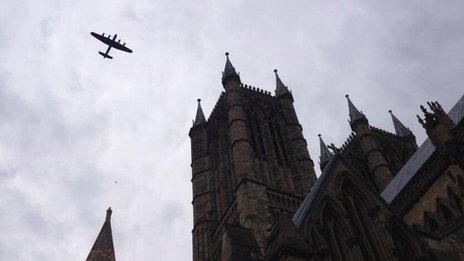 Lancaster bomber flypast