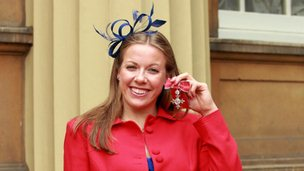 Hannah Cockcroft with MBE