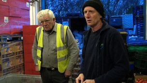 Workers at food bank in Hull