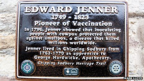 Edward Jenner plaque