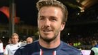 David Beckham playing for PSG