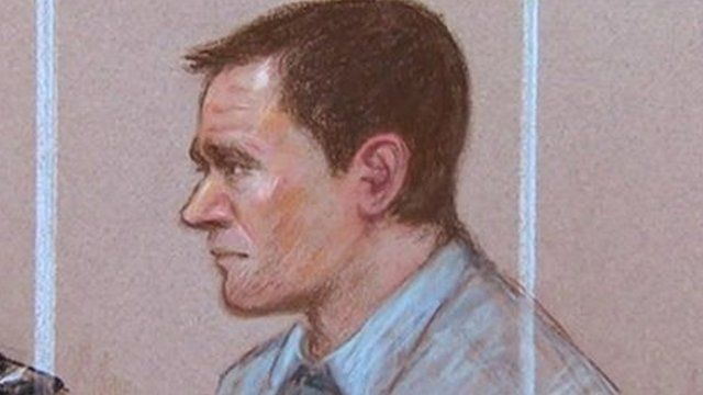 A court artist's impression of Mark Bridger