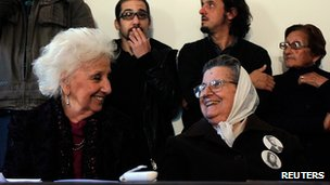 Grandmothers of the Plaza de Mayo hold news conference