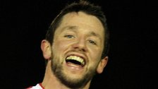 Rory Patterson continued his fine season for Derry by scoring two more goals