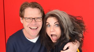 Robert Elms and Caitlin Moran