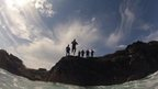 Coasteering in North Cornwall, May 2013