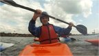 Kayak coaching on the Solent