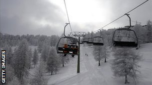 Cable cars at Sestriere