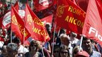Protesters against austerity in Rome, 18 May