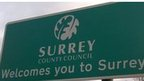 Surrey road sign