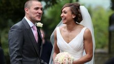 Olympic champion Jessica Ennis and her new husband Andy Hill