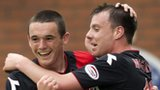 St Mirren scorers John McGinn and Paul McGowan